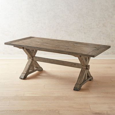 Favorite Kara Trestle Dining Tables Throughout Our Updated X Base Trestle Table Is Rich With Rustic (View 5 of 25)