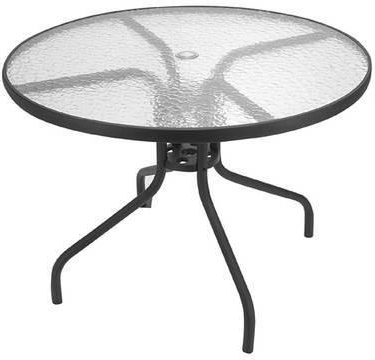 """Favorite Nashville 40'' Pedestal Dining Tables Inside $59 Spartan 40"""" Round Glass Top Patio Table For Sale In (View 10 of 25)"""