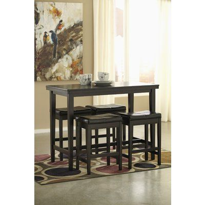 Favorite Overstreet Bar Height Dining Tables Intended For Justine Counter Height Dining Table (View 16 of 25)