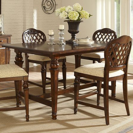 Favorite Overstreet Bar Height Dining Tables With Regard To Turned Counter Height Dining Table With An Extendable Leaf (View 2 of 25)