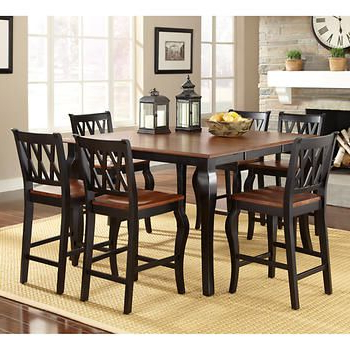 Favorite Roslyn 7 Piece Square Counter Height Dining Set (with Throughout Mciver Counter Height Dining Tables (View 16 of 25)