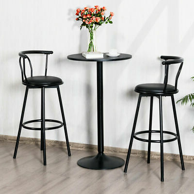 """Favorite Set Of 2 Round Pub Table 24"""" Bistro Bar Height Cocktail For Andrelle Bar Height Pedestal Dining Tables (View 5 of 25)"""