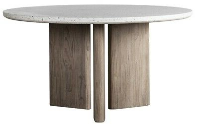 """Favorite Steven 55'' Pedestal Dining Tables Regarding 55"""" W Ercole Indoor Outdoor Dining Table Modern Terrazzo (View 22 of 25)"""