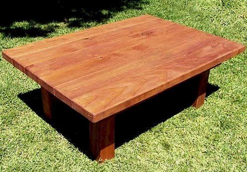 """Favorite Sturdy Wood Side Table, Natural Redwood Side Tables Regarding Elite Rectangle 48"""" L X 24"""" W Tables (View 3 of 25)"""