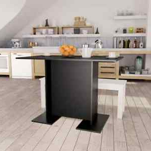 Favorite Vidaxl Dining Table Durable Compact Black (View 17 of 25)