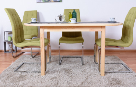 Febe Pine Solid Wood Dining Tables In Popular Dining Table Junco 232b, Solid Pine Wood, Clear Finish (View 2 of 25)