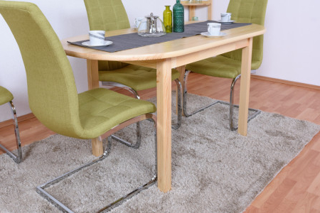 Febe Pine Solid Wood Dining Tables Regarding Trendy Dining Table Junco 232b, Solid Pine Wood, Clear Finish (View 3 of 25)