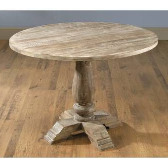 Finkelstein Pine Solid Wood Pedestal Dining Tables Regarding Current Pannell Balustrade Dining Table In (View 4 of 25)