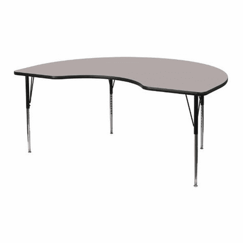 Flash Furniture 48w X 72l Kidney Shaped Table (View 12 of 25)