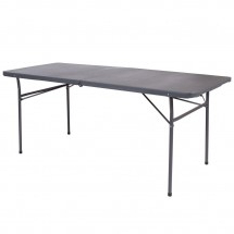 """Flash Furniture Dad Lf 183z Dg Gg Dark Gray Plastic Throughout Well Known 72"""" L Breakroom Tables And Chair Set (View 5 of 25)"""