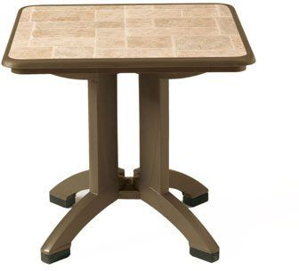 Folding Table, 32 In Square, Bronze Mist (View 5 of 25)