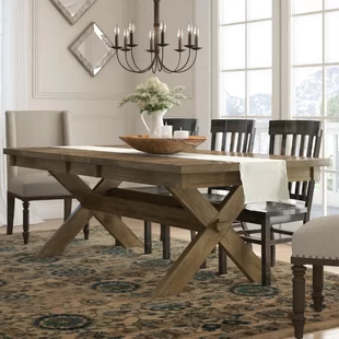 Foundstone Cordelia Solid Wood Dining Table (View 2 of 25)