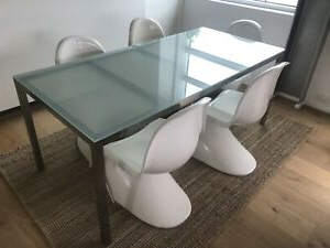 """Free: Frosted Glass Top Ikea Dining Table """"torsby Throughout Popular Adejah 35'' Dining Tables (View 13 of 25)"""