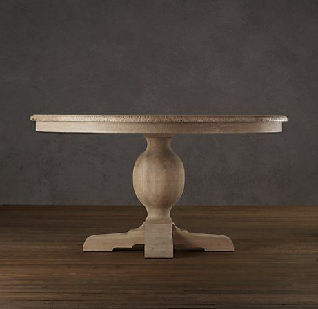 French Urn Pedestal Round Dining Table (with Images Regarding Preferred Kirt Pedestal Dining Tables (View 11 of 25)