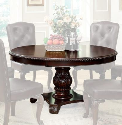 Furniture Of America Bellagio Collection Cm3319rt Table 60 With Favorite Keown 43'' Solid Wood Dining Tables (View 12 of 25)