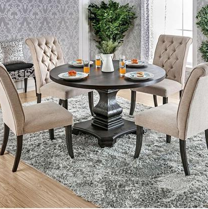 Furniture Of America Nerissa Collection Cm3840rt Table 48 Inside Most Popular Exeter 48'' Pedestal Dining Tables (View 25 of 25)