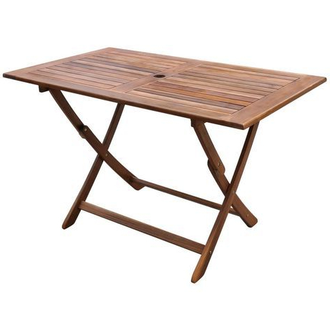 Garden Table 120x70x75 Cm Solid Acacia Wood With Recent Folcroft Acacia Solid Wood Dining Tables (View 7 of 25)