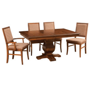 Gaspard Maple Solid Wood Pedestal Dining Tables Inside Well Known Pedestal Dining Tables – Prestige Solid Wood Furniture (View 17 of 25)