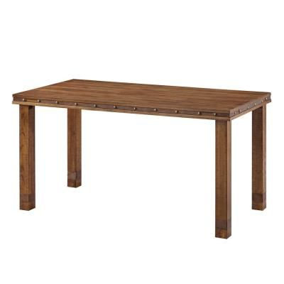 Gaspard Maple Solid Wood Pedestal Dining Tables Regarding Well Liked Southern Enterprises Westville Aged Whiskey Maple Rustic (View 11 of 25)