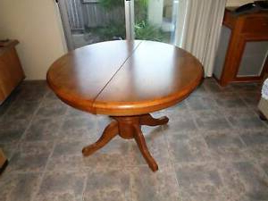 Genao 35'' Dining Tables Pertaining To Most Current Round Extendable Wooden Dining Table – Eureka Street (View 12 of 25)