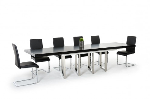 Genao 35'' Dining Tables With Newest Modrest Drexler Modern Black Extendable Dining Table (View 19 of 25)