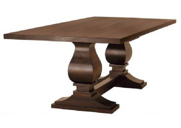 Geneve Maple Solid Wood Pedestal Dining Tables In Widely Used Canal Dover (View 22 of 25)