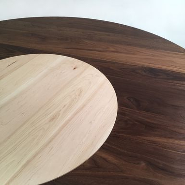 Geneve Maple Solid Wood Pedestal Dining Tables Intended For Latest Buy Hand Crafted Contemporary Modern Solid Walnut Round (View 21 of 25)