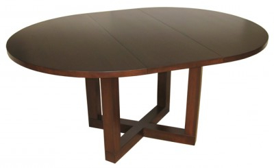 Geneve Maple Solid Wood Pedestal Dining Tables Regarding Newest Tangent Dining Table – X Base Solid Maple Table With Self (View 4 of 25)