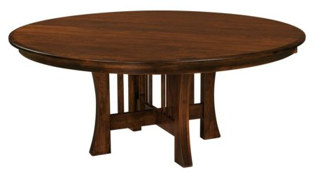 Geneve Maple Solid Wood Pedestal Dining Tables With Favorite Amish Arts Crafts Pedestal Dining Table (View 7 of 25)