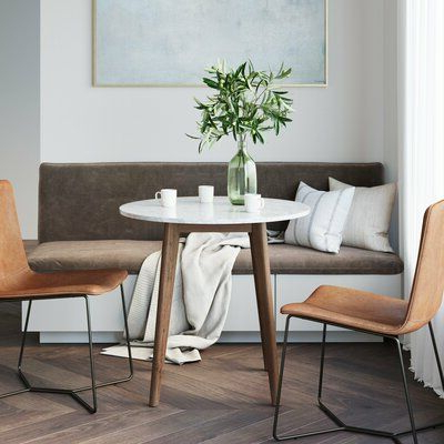 George Oliver Drubin Marble Laminate Solid Wood Dining With Regard To Current Drubin (View 4 of 12)