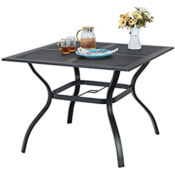 """Getz 37'' Dining Tables Inside Well Liked Amazon : Outsunny 33"""" Round Cast Aluminium Outdoor (View 25 of 25)"""