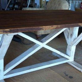 Getz 37'' Dining Tables Regarding Most Current Trestle Style Farm Tablecottage And Cabin (View 19 of 25)