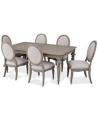 Getz 37'' Dining Tables Within Most Popular Furniture Elina Expandable Dining Furniture, 7 Pc (View 22 of 25)