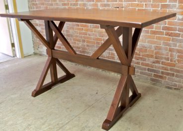 Haddington 42'' Trestle Dining Tables Intended For Preferred 42 Bar Height Oak Trestle Table – Ecustomfinishes (View 15 of 25)