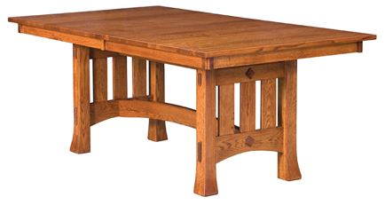 Haddington 42'' Trestle Dining Tables Pertaining To Recent Olde Century Mission Trestle Dining Table (View 2 of 25)