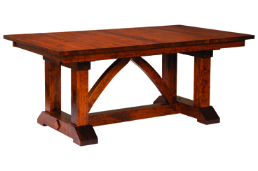 Haddington 42'' Trestle Dining Tables With Regard To Favorite Bostonian Trestle Dining Table – Amish Furniture Factory (View 6 of 25)