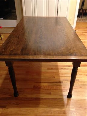 Hand Crafted Solid Maple Farmhouse Dining Table With Throughout Recent Tylor Maple Solid Wood Dining Tables (View 4 of 25)