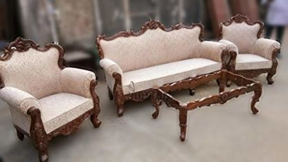 Handcrafted 5 Seater Sofa Set Sheesham Wood Sf 0095 Within Recent Joyl (View 21 of 25)