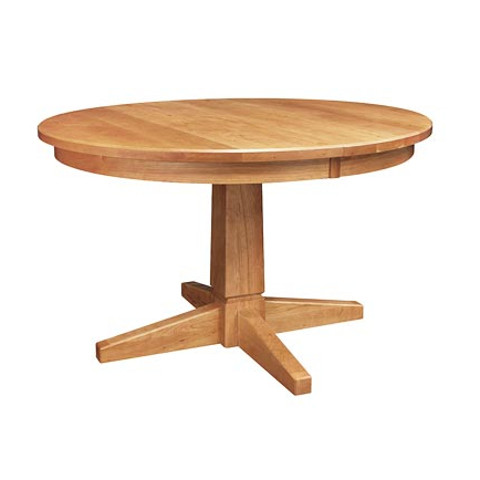 Handcrafted Solid Wood Dining Tables – Vermont Woods Studios For 2019 Gaspard Extendable Maple Solid Wood Pedestal Dining Tables (View 4 of 25)