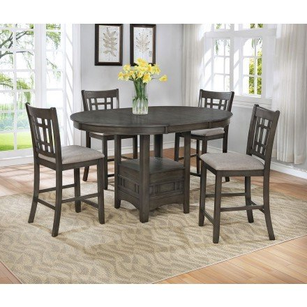 Hearne Counter Height Dining Tables Regarding Current Hartwell Counter Height Dining Room Set (grey (View 2 of 25)
