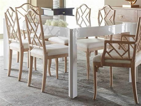"""Hekman Urban Retreat Khaki (light) Round Dining Table With Regard To Fashionable Murphey Rectangle 112"""" L X 40"""" W Tables (View 8 of 25)"""