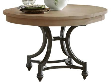 Hemmer 32'' Pedestal Dining Tables In Trendy Liberty Furniture Harbor View Round Dining Table In Sand (View 2 of 25)