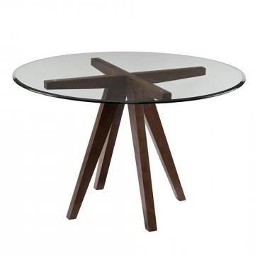 Hemmer 32'' Pedestal Dining Tables Inside Trendy Ted Dining Table – Glass Top Dining Table – Round Dining (View 7 of 25)