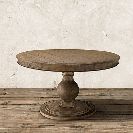 Hemmer 32'' Pedestal Dining Tables Pertaining To Most Popular Lara Pedestal Dining Table In Natural (View 11 of 25)
