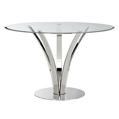 Hemmer 32'' Pedestal Dining Tables With 2019 John Lewis & Partners Moritz 4 Seater Glass Top Dining (View 17 of 25)