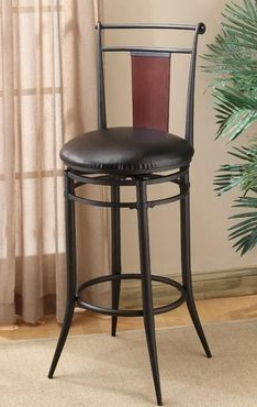 """Hillsdale Midtown Swivel 30"""" Wood Back Bar Stool (4324 831 Intended For Newest Midtown Solid Wood Breakroom Tables (View 8 of 25)"""