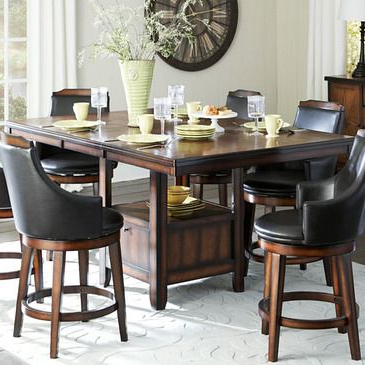 Homelegance Bayshore Extension Counter Height Table W Intended For Well Liked Charterville Counter Height Pedestal Dining Tables (View 9 of 25)