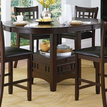 Homelegance Junipero Extension Counter Height Table W Pertaining To Most Current Dawid Counter Height Pedestal Dining Tables (View 15 of 25)