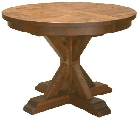 Hotchkiss Rustic Round Kitchen Table – Countryside Amish For Most Recent Bineau 35'' Pedestal Dining Tables (View 5 of 25)