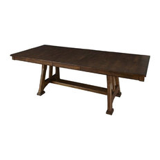 Houzz With Regard To Well Known Carelton 36'' Mango Solid Wood Trestle Dining Tables (View 3 of 25)